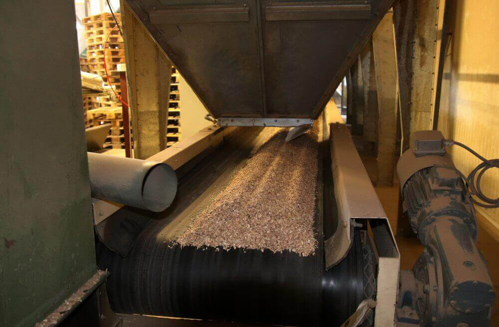 Productie van Rookhout Snippers